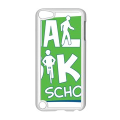 Bicycle Walk Bike School Sign Green Blue Apple Ipod Touch 5 Case (white) by Alisyart