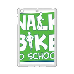 Bicycle Walk Bike School Sign Green Blue Ipad Mini 2 Enamel Coated Cases by Alisyart