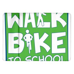 Bicycle Walk Bike School Sign Green Blue Samsung Galaxy Tab 10 1  P7500 Flip Case