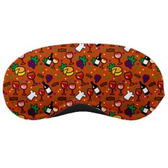 Wine Cheede Fruit Purple Yellow Orange Sleeping Masks by Alisyart