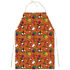 Wine Cheede Fruit Purple Yellow Orange Full Print Aprons by Alisyart