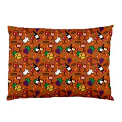 Wine Cheede Fruit Purple Yellow Orange Pillow Case (two Sides) by Alisyart