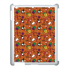 Wine Cheede Fruit Purple Yellow Orange Apple Ipad 3/4 Case (white) by Alisyart