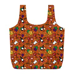 Wine Cheede Fruit Purple Yellow Orange Full Print Recycle Bags (l)  by Alisyart