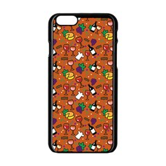 Wine Cheede Fruit Purple Yellow Orange Apple Iphone 6/6s Black Enamel Case by Alisyart