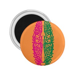 Brian Pink Green Orange Smart 2 25  Magnets by Alisyart