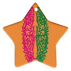 Brian Pink Green Orange Smart Star Ornament (two Sides) by Alisyart