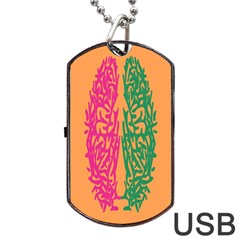 Brian Pink Green Orange Smart Dog Tag Usb Flash (two Sides) by Alisyart