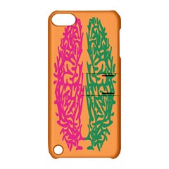 Brian Pink Green Orange Smart Apple Ipod Touch 5 Hardshell Case With Stand by Alisyart