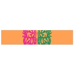 Brian Pink Green Orange Smart Flano Scarf (small) by Alisyart