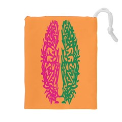Brian Pink Green Orange Smart Drawstring Pouches (extra Large) by Alisyart