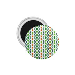 Chevron Wave Green Orange 1 75  Magnets by Alisyart