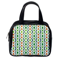 Chevron Wave Green Orange Classic Handbags (one Side) by Alisyart