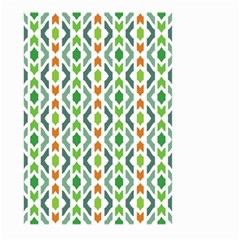 Chevron Wave Green Orange Large Garden Flag (two Sides) by Alisyart