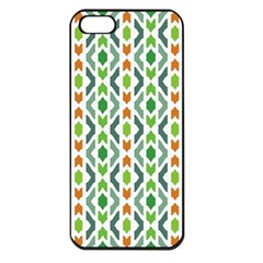 Chevron Wave Green Orange Apple Iphone 5 Seamless Case (black) by Alisyart