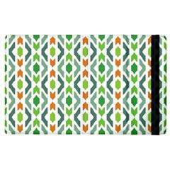 Chevron Wave Green Orange Apple Ipad 2 Flip Case by Alisyart