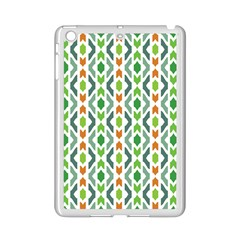 Chevron Wave Green Orange Ipad Mini 2 Enamel Coated Cases