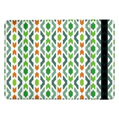 Chevron Wave Green Orange Samsung Galaxy Tab Pro 12 2  Flip Case by Alisyart