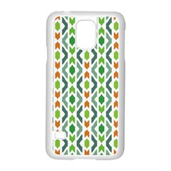 Chevron Wave Green Orange Samsung Galaxy S5 Case (white)