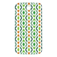 Chevron Wave Green Orange Samsung Galaxy Mega I9200 Hardshell Back Case