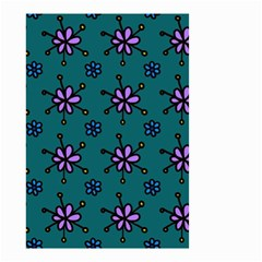 Blue Purple Floral Flower Sunflower Frame Small Garden Flag (two Sides)