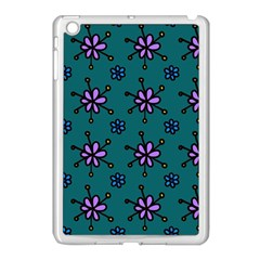 Blue Purple Floral Flower Sunflower Frame Apple Ipad Mini Case (white) by Alisyart