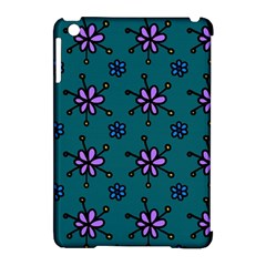 Blue Purple Floral Flower Sunflower Frame Apple Ipad Mini Hardshell Case (compatible With Smart Cover) by Alisyart