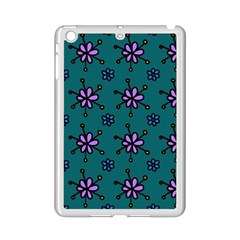 Blue Purple Floral Flower Sunflower Frame Ipad Mini 2 Enamel Coated Cases