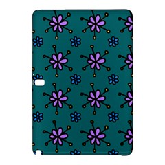 Blue Purple Floral Flower Sunflower Frame Samsung Galaxy Tab Pro 10 1 Hardshell Case by Alisyart