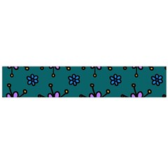 Blue Purple Floral Flower Sunflower Frame Flano Scarf (large)