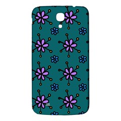 Blue Purple Floral Flower Sunflower Frame Samsung Galaxy Mega I9200 Hardshell Back Case by Alisyart