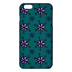 Blue Purple Floral Flower Sunflower Frame Iphone 6 Plus/6s Plus Tpu Case by Alisyart