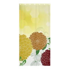 Abstract Flowers Sunflower Gold Red Brown Green Floral Leaf Frame Shower Curtain 36  X 72  (stall)  by Alisyart