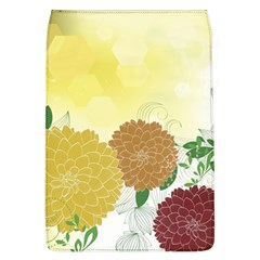 Abstract Flowers Sunflower Gold Red Brown Green Floral Leaf Frame Flap Covers (l)  by Alisyart