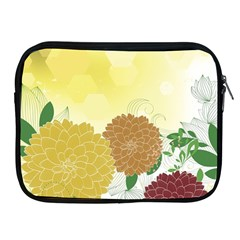 Abstract Flowers Sunflower Gold Red Brown Green Floral Leaf Frame Apple Ipad 2/3/4 Zipper Cases by Alisyart