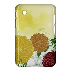 Abstract Flowers Sunflower Gold Red Brown Green Floral Leaf Frame Samsung Galaxy Tab 2 (7 ) P3100 Hardshell Case  by Alisyart