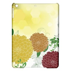 Abstract Flowers Sunflower Gold Red Brown Green Floral Leaf Frame Ipad Air Hardshell Cases by Alisyart