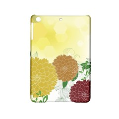 Abstract Flowers Sunflower Gold Red Brown Green Floral Leaf Frame Ipad Mini 2 Hardshell Cases
