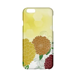 Abstract Flowers Sunflower Gold Red Brown Green Floral Leaf Frame Apple Iphone 6/6s Hardshell Case by Alisyart