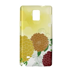 Abstract Flowers Sunflower Gold Red Brown Green Floral Leaf Frame Samsung Galaxy Note 4 Hardshell Case by Alisyart