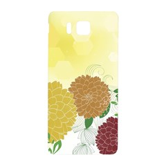 Abstract Flowers Sunflower Gold Red Brown Green Floral Leaf Frame Samsung Galaxy Alpha Hardshell Back Case