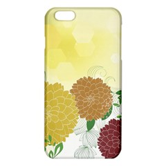 Abstract Flowers Sunflower Gold Red Brown Green Floral Leaf Frame Iphone 6 Plus/6s Plus Tpu Case by Alisyart