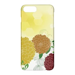 Abstract Flowers Sunflower Gold Red Brown Green Floral Leaf Frame Apple Iphone 7 Plus Hardshell Case by Alisyart