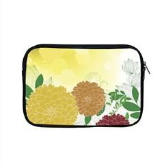 Abstract Flowers Sunflower Gold Red Brown Green Floral Leaf Frame Apple Macbook Pro 15  Zipper Case by Alisyart