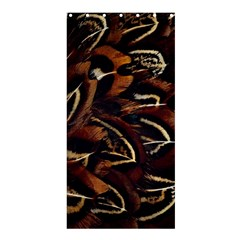 Feathers Bird Black Shower Curtain 36  X 72  (stall)  by Simbadda