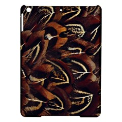 Feathers Bird Black Ipad Air Hardshell Cases by Simbadda