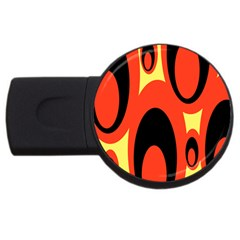 Circle Eye Black Red Yellow Usb Flash Drive Round (4 Gb) by Alisyart