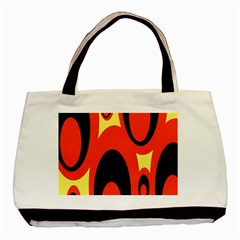 Circle Eye Black Red Yellow Basic Tote Bag by Alisyart