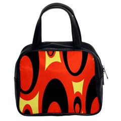 Circle Eye Black Red Yellow Classic Handbags (2 Sides) by Alisyart