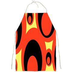 Circle Eye Black Red Yellow Full Print Aprons